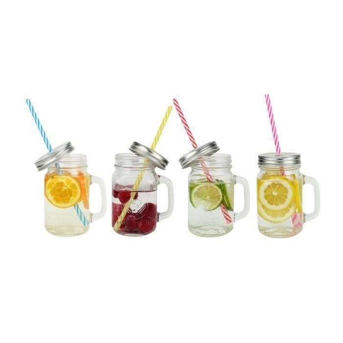 Verre a smoothie achat vente pas cher for Achat bocaux en verre