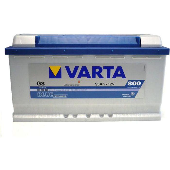 BATTERIE VÉHICULE VARTA Batterie Auto G3 (+ droite) 12V 95AH 800A