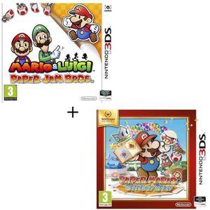 JEU 3DS Pack 2 jeux 3DS : Mario & Luigi paper jam + Paper