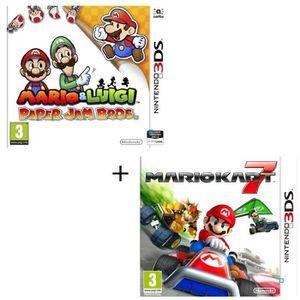 JEU 3DS Pack 2 jeux 3DS : Mario & Luigi paper jam + Mario