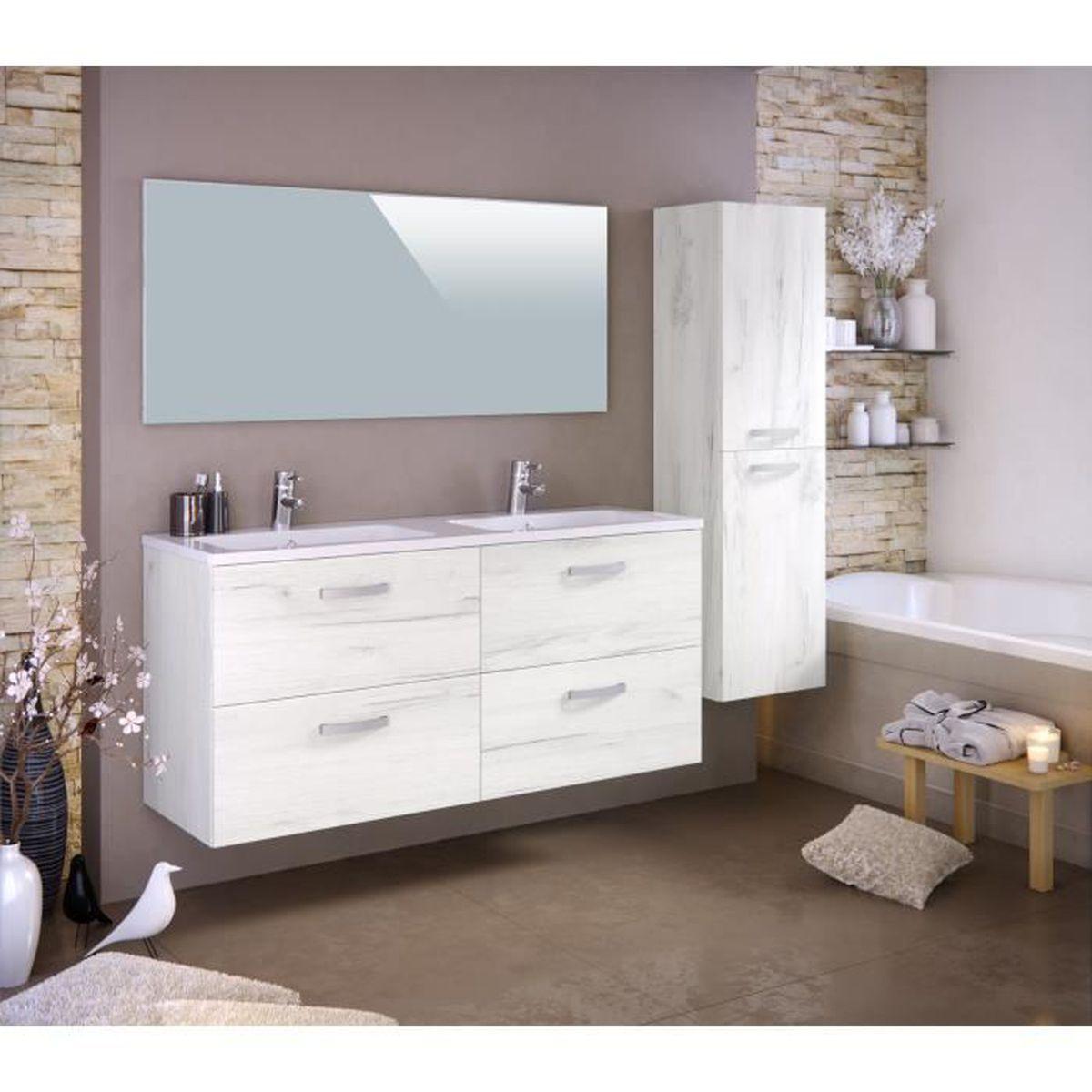 Meuble de salle de bain 1 vasque 2 robinet 120 cm achat for Meuble double vasque 120 cm pas cher