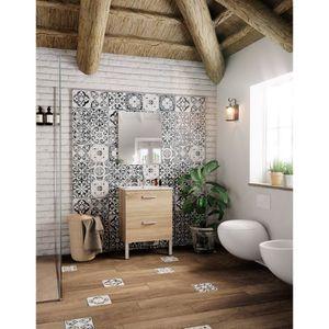 SALLE DE BAIN COMPLETE STELLA Ensemble salle de bain simple vasque L 60 c