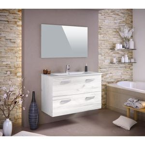 luna ensemble salle de bain simple vasque 100 cm