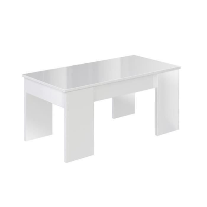 TABLE BASSE SWING Table basse relevable style contemporain bla