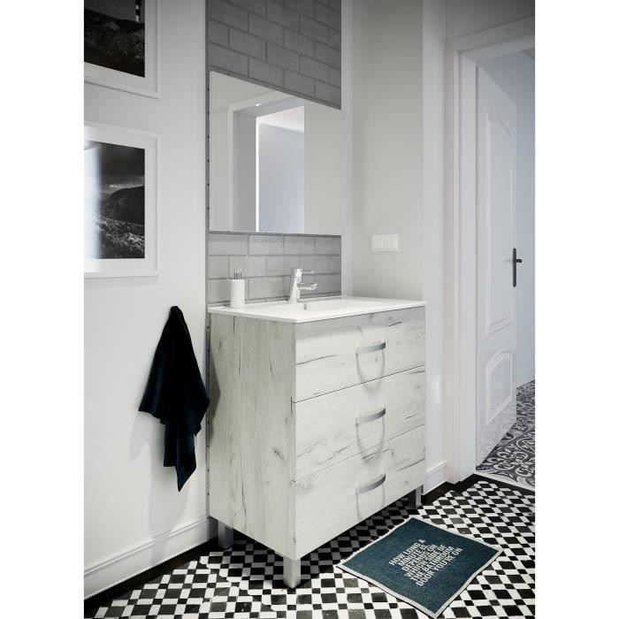 meuble vasque salle de bain avec pied achat vente pas cher. Black Bedroom Furniture Sets. Home Design Ideas