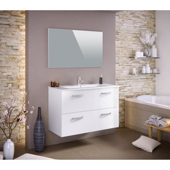 meuble salle de bain 100 cm achat vente meuble salle. Black Bedroom Furniture Sets. Home Design Ideas