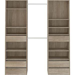 kit dressing 2 colonnes achat vente pas cher. Black Bedroom Furniture Sets. Home Design Ideas
