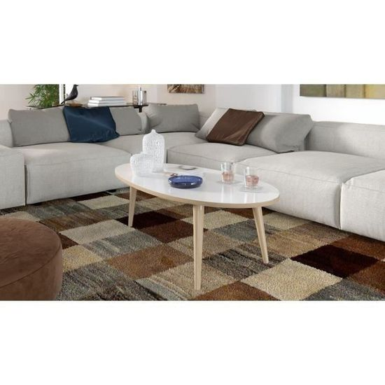 Basse Blanc 110 Style Table En L 55 Scandinave Brillant Avec Bois X Ovale Pieds Cm Narvik hCxrdtBsQ