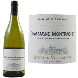 VIN BLANC Henri de Villamont Chassagne Montrachet blanc G...