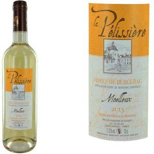 VIN BLANC La Pélissière 2013 Côtes de Bergerac moelleux vin