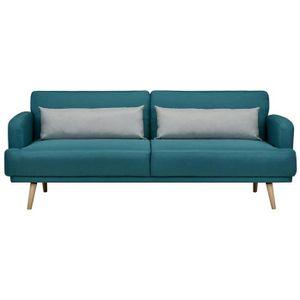 Canape bleu gris - Achat / Vente pas cher