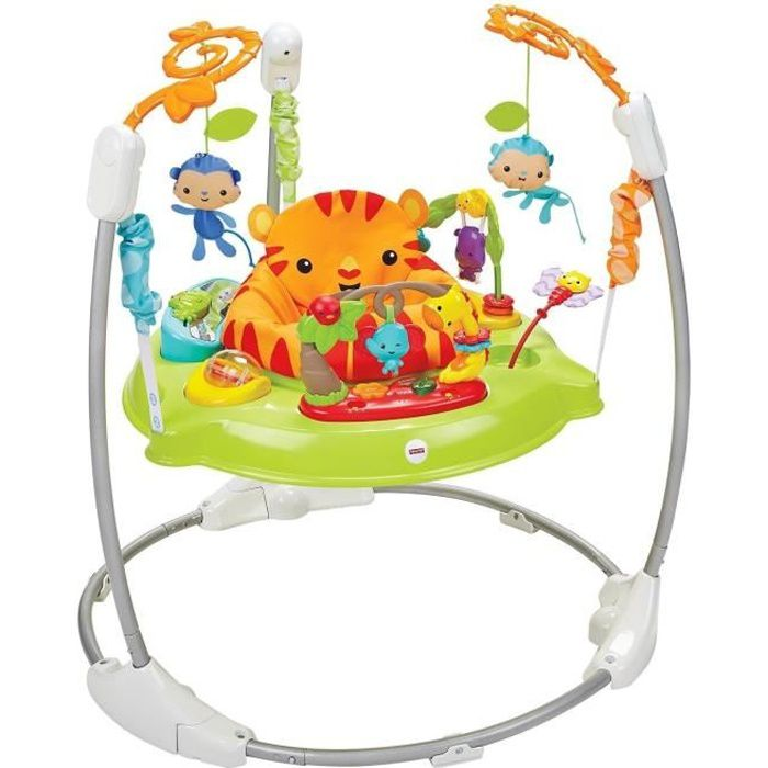 YOUPALA - TROTTEUR FISHER-PRICE - Trotteur Jumperoo Jungle Sons Lumie