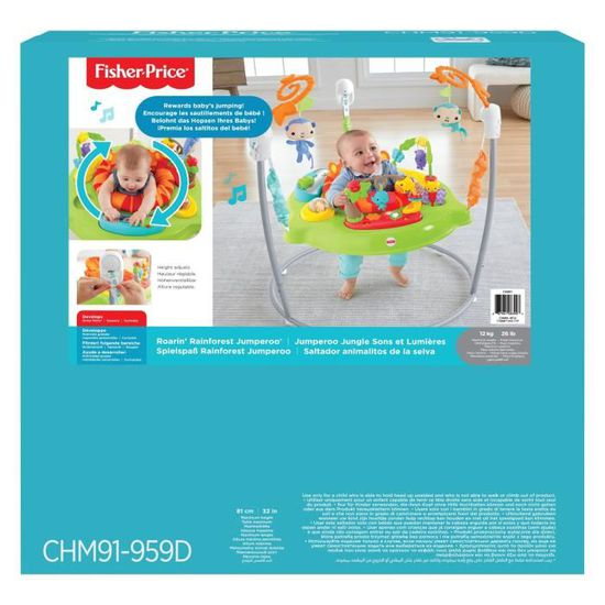 24549f318d31 FISHER-PRICE - Trotteur Jumperoo Jungle - Sons   Lumières