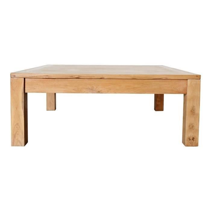 Ankor Table Basse Carrée Scandinave En Bois Teck Massif Verni L