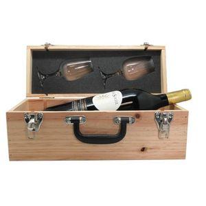 COFFRET CADEAU VIN Valise Vin avec Magnum + 2 verres