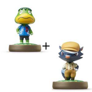 FIGURINE DE JEU Pack de 2 Amiibos Animal Crossing : Amiral et Blai