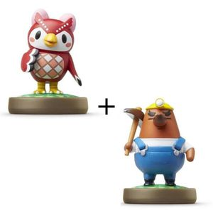 FIGURINE DE JEU Pack de 2 Amiibos Animal Crossing : Celeste et Res