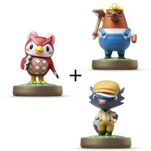 FIGURINE DE JEU Pack de 3 Amiibos Animal Crossing : Blaise + Celes