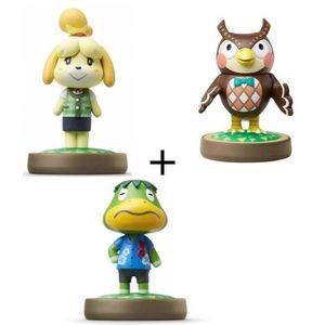 FIGURINE DE JEU Pack de 3 Amiibos Animal Crossing : Thibou + Marie