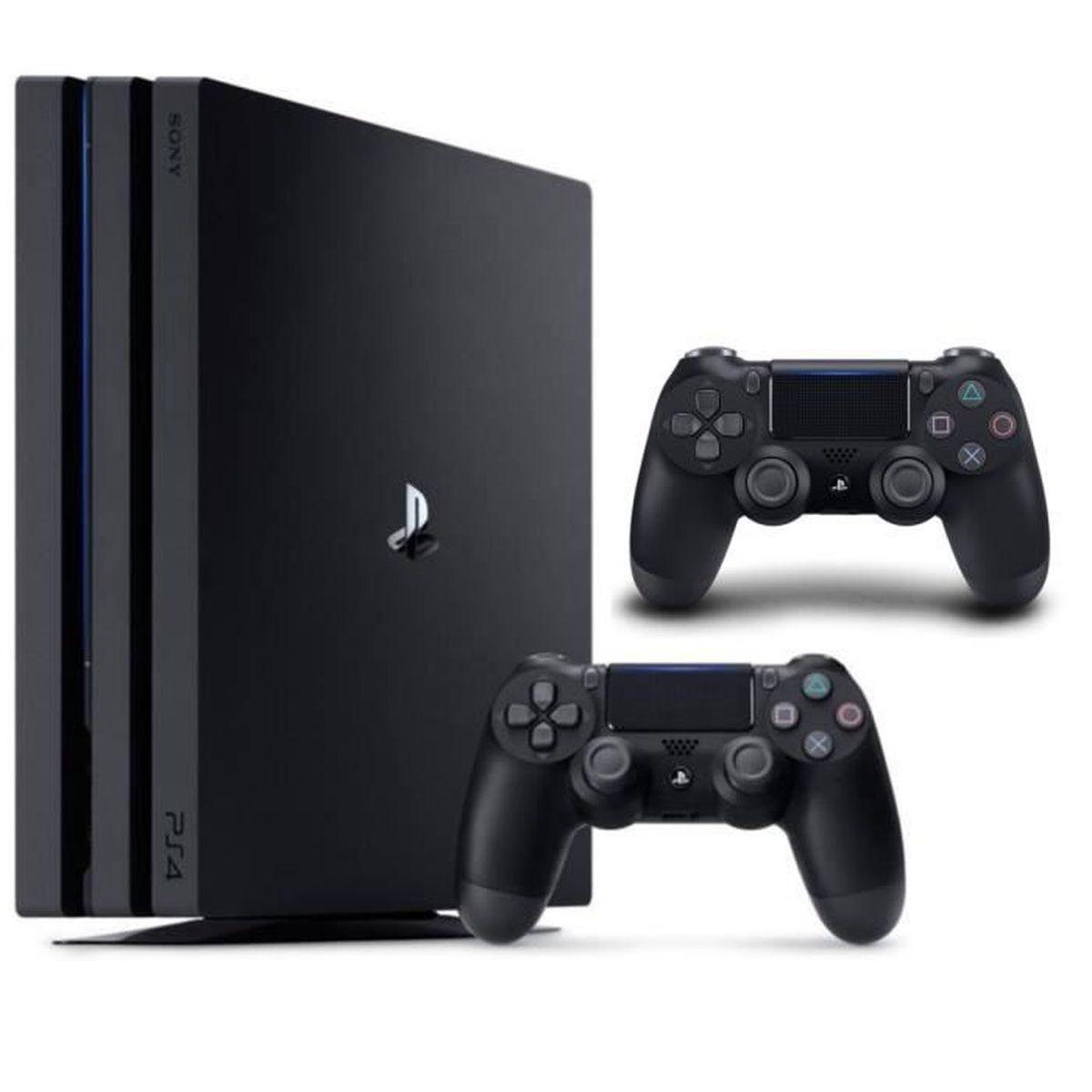 CONSOLE PS4 NOUVEAUTÉ Pack PS4 Pro 1 To Noire + 2e manette DualShock 4 N