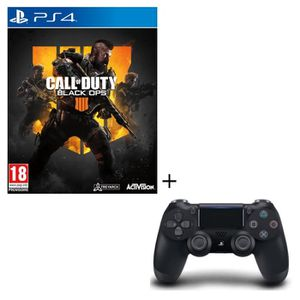PACK ACCESSOIRE Pack Call of Duty Black OPS 4 Jeu PS4 + Manette PS