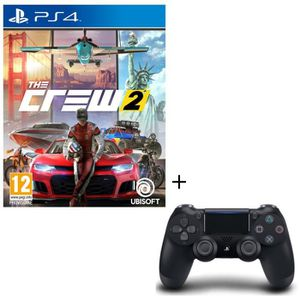 PACK ACCESSOIRE Pack The Crew 2 + Manette DualShock 4 Noire
