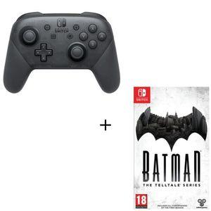 MANETTE JEUX VIDÉO Pack Switch Manette pro + 1 jeu : Batman : A Tellt