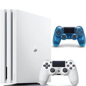 CONSOLE PS4 NOUVEAUTÉ PS4 Pro Blanche 1 To + 2ème Manette DualShock 4 Cr