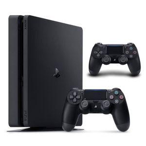 CONSOLE PS4 Nouvelle PS4 Slim 500 Go Noire + 2e Manette DualSh