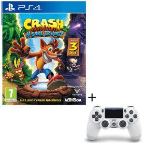 PACK ACCESSOIRE Pack Crash Bandicoot N. Sane Trilogy Jeu PS4 + Man