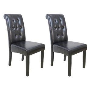 CHAISE CUBA Lot de 2 chaises de salle à manger - Simili m