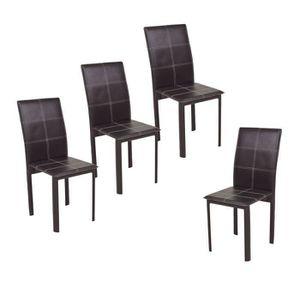 CHAISE RUBY Lot de 4 Chaises de salle à manger en simili