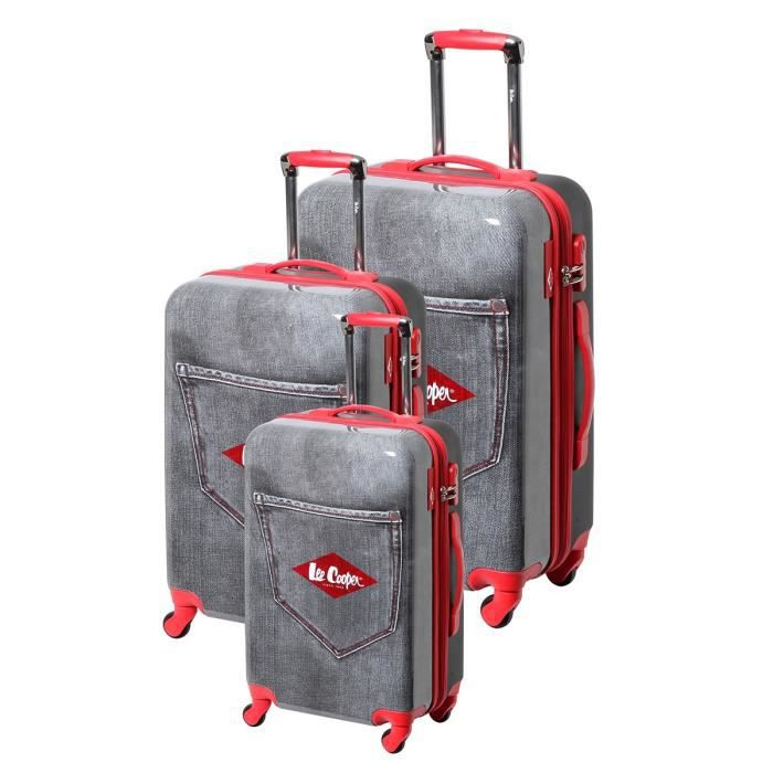 SET DE VALISES LEE COOPER Set de 3 valises Mixte  - 49 cm + 59 cm
