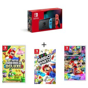 nintendo switch pack mario kart mario party achat. Black Bedroom Furniture Sets. Home Design Ideas
