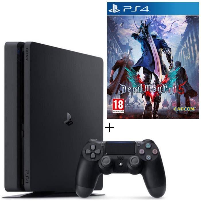 CONSOLE PS4 NOUVEAUTÉ Pack PS4 500 Go Noire  + Devil May Cry 5