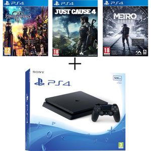 CONSOLE PS4 Pack Sony : Console PS4 500Go + Kingdom Hearts 3 +