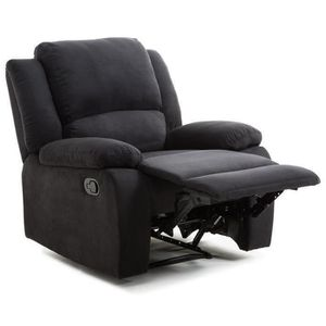 FAUTEUIL RELAX Fauteuil relaxation - Tissu noir - Style con