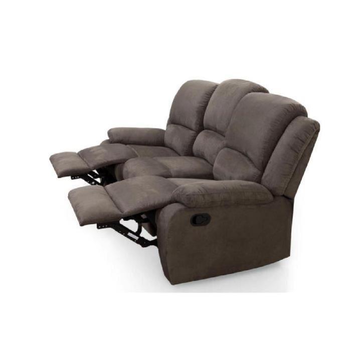 Relax Canap De Relaxation Droit 3 Places 192x92x93 Cm