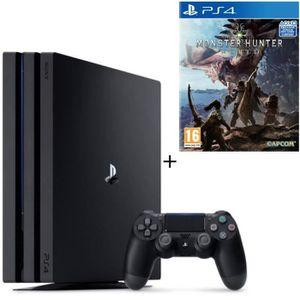 CONSOLE PS4 NOUVEAUTÉ Pack PS4 Pro 1To Noire + Monster Hunter World Jeu