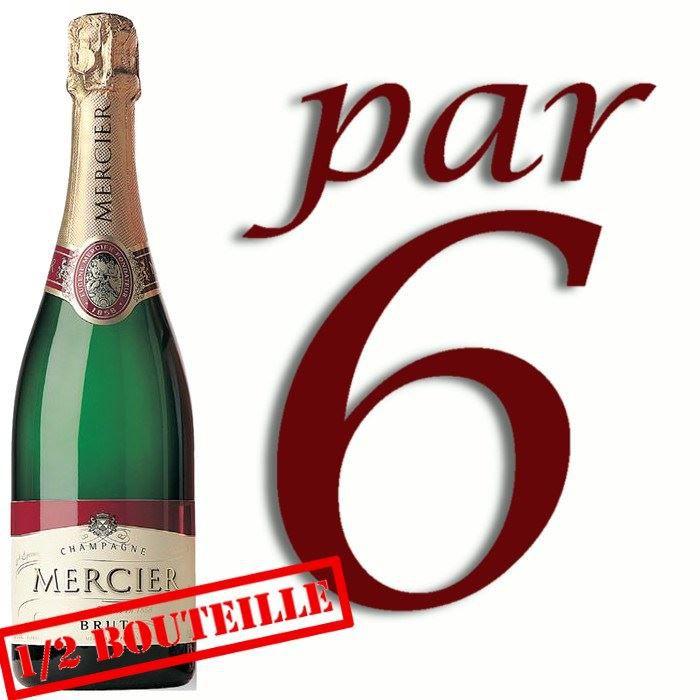 CHAMPAGNE 1/2 Bouteille Champagne Mercier x6