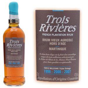 RHUM Rhum Trois Rivières triple millésime 42° 70cl