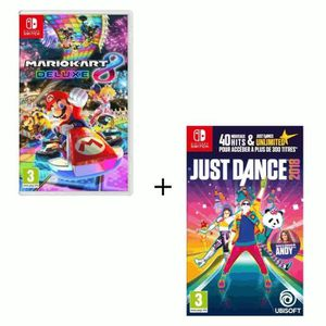 NINTENDO SWITCH Pack 2 Jeux Switch : Just Dance 2018 & Mario Kart