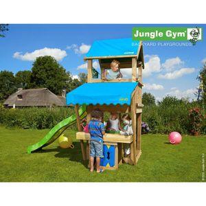 BALANÇOIRE - PORTIQUE TRIGANO Structure de jeux Jungle Gym - Castle mini