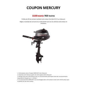 MOTEUR THERMIQUE Coupon d'Achat - Moteur Hors-Bord MERCURY 3.5 CV