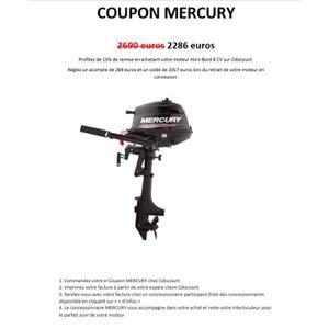 MOTEUR THERMIQUE Coupon d'Achat - Moteur Hors-Bord MERCURY 8 CV