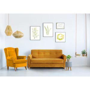 canape moutarde achat vente canape moutarde pas cher soldes d s le 10 janvier cdiscount. Black Bedroom Furniture Sets. Home Design Ideas