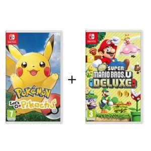 JEU NINTENDO SWITCH Pack 2 Jeux Nintendo Switch : Pokémon : Let's go,