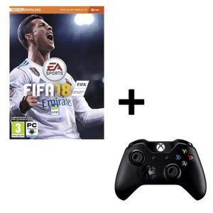 JEU PC Pack FIFA 18 Jeu PC + Manette Sans Fil PC / Xbox O