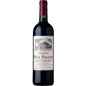VIN ROUGE Château Beau Vallon Saint Emilion Grand Vin de Bor