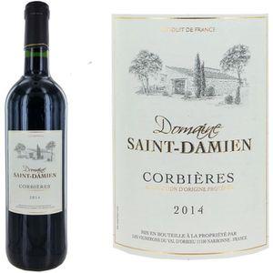 VIN ROUGE Domaine Saint Damien Corbières 2014 - Vin rouge